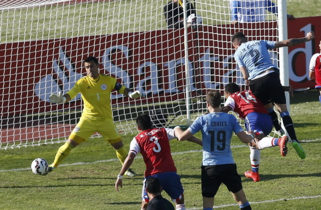 Lewat Set Piece Uruguay-Paraguay Cetak Gol